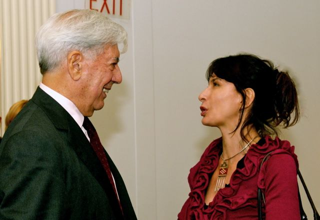 Mario Vargas Llosa and Gy Mirano at the Americas Society
