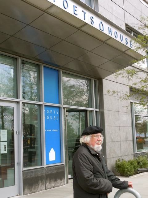 The great poet Ernesto Cardenal in a recent New York visit at Poets House